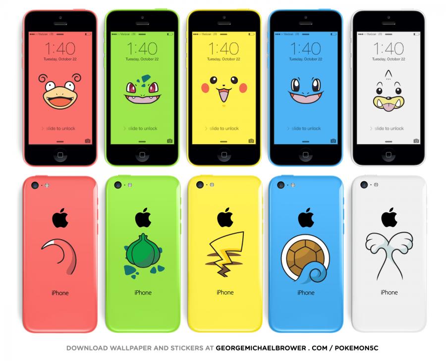 ピカチュウiPhoneが作れる!iPhone 5c用のポケモン壁紙&シール素材が無料配信中
