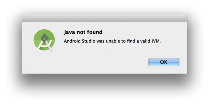 java not found