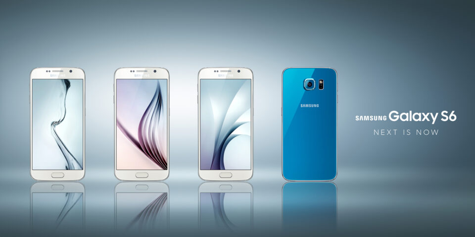 GALAXY S6 WHITE BLUE