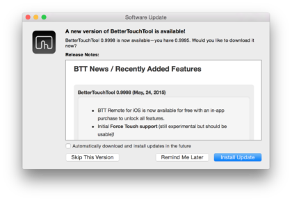 better touch tool force touch update