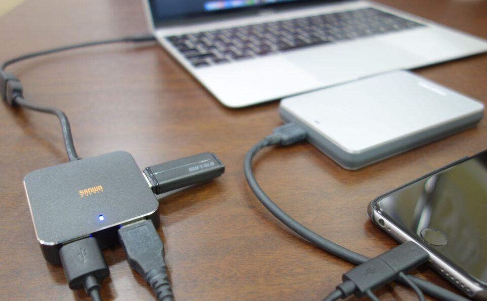 sanwa supply usb hub with macbook 1