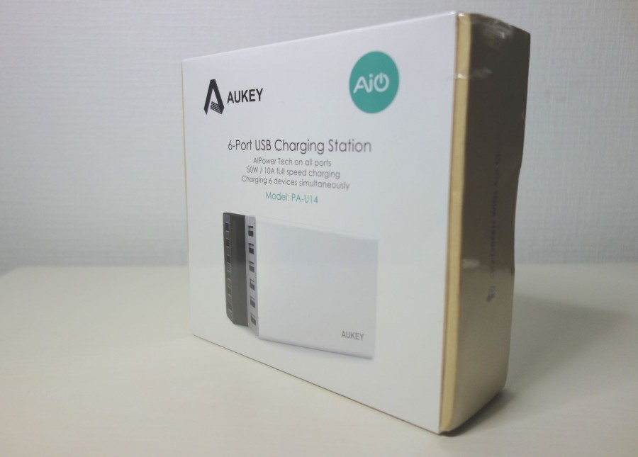 Aukey AIPower 50W 6port charger 1