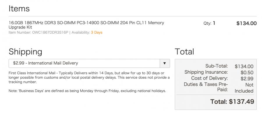 owc shipping fee