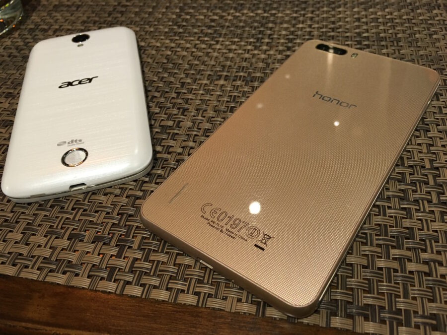 acer liquid z330 and honor6 plus