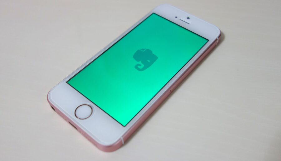 evernote on iphone se 1