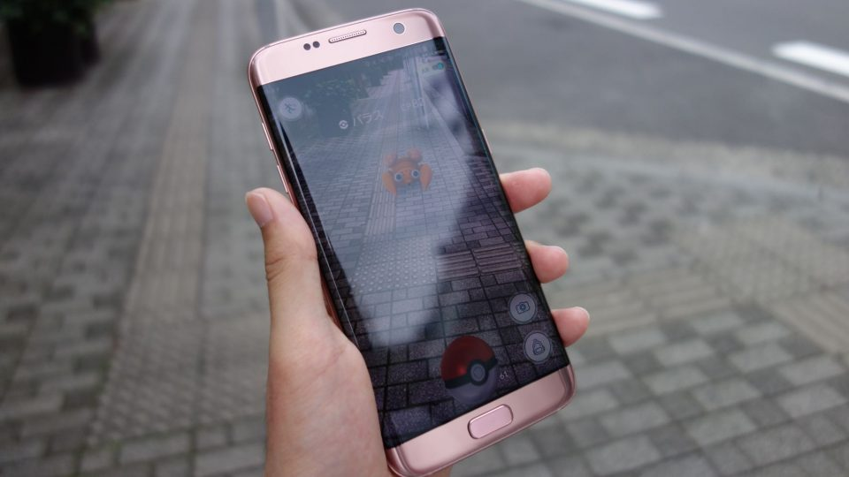 pokemon go on galaxy s7 edge 1
