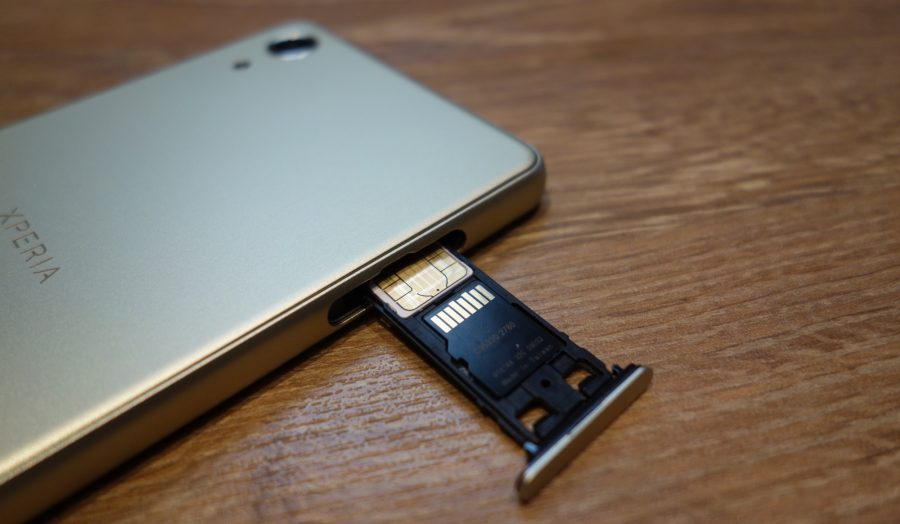 xperia x performance sim slot