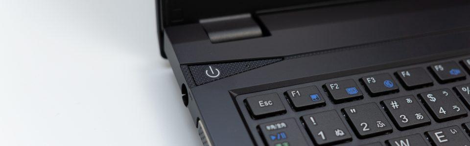 m-Book F536EN 電源ボタン
