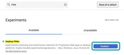 Mac版ChromeでPWAを有効化する設定