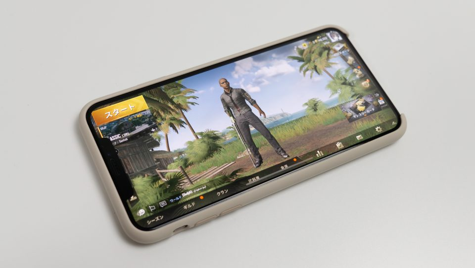 iPhone XS MaxでPUBG mobile