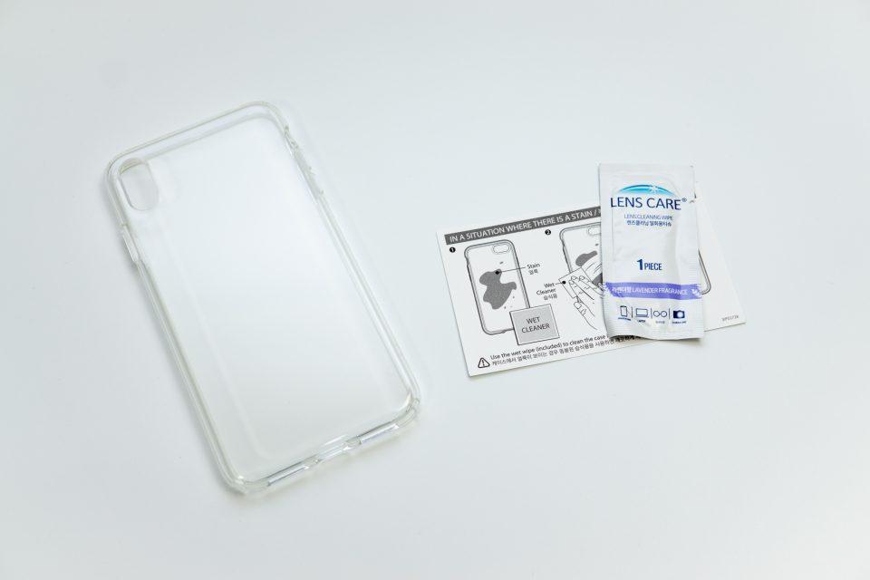 iPhone XS Max用リキッド・クリスタル パッケージ中身